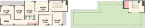 3階、屋上平面図